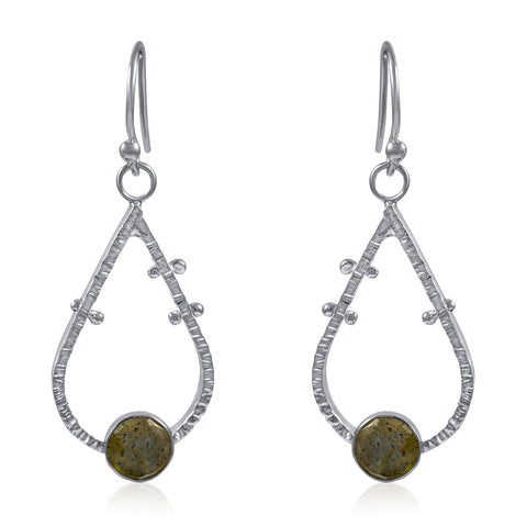 Supernova Earrings Small - Labradorite - By Kristen Baird® Jewelry