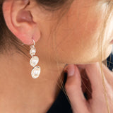 Three Pearl Splash Earrings by Kristen Baird