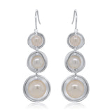 Triple Pearl Splash Earrings by Kristen Baird®