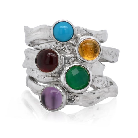 Mini Ripple Ring Stack by Kristen Baird®
