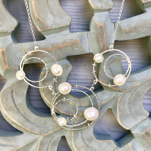 Orbit Necklace Statement pearl