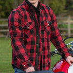 Load image into Gallery viewer, Axe Protective Shirt-Protective Shirt-Merlin-Red-Small-Merlin Bike Gear
