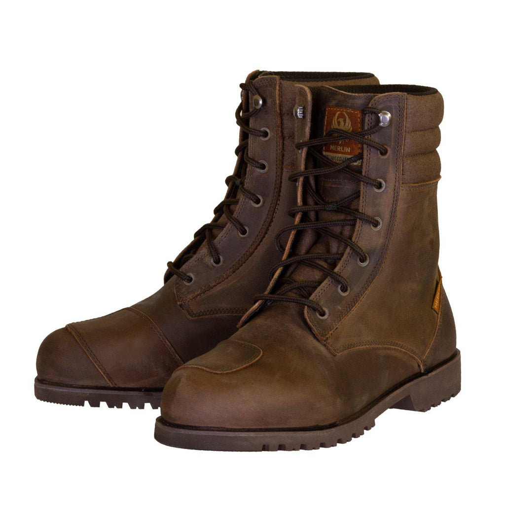 Drax Waterproof Boot-Boots-Merlin-Dark Brown-7-Merlin Bike Gear