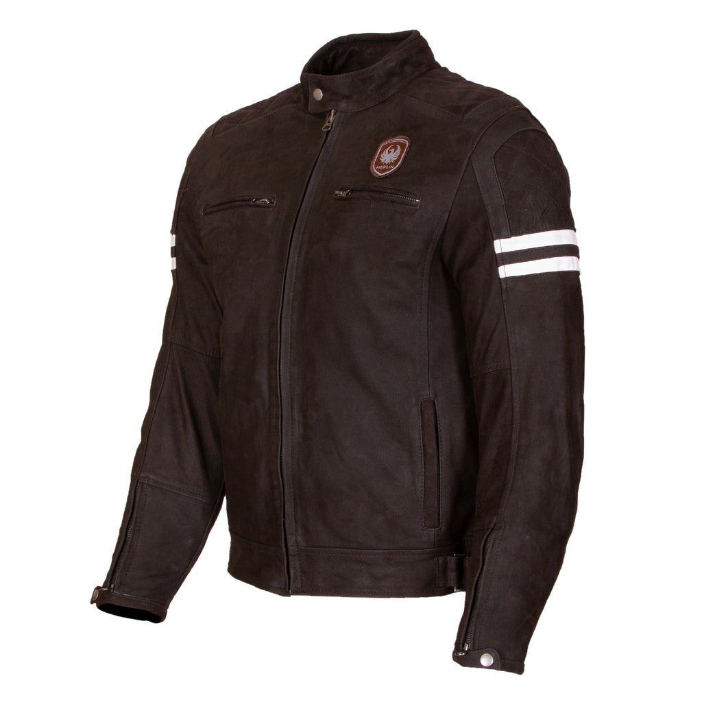Hixon Leather Jacket-leather-Merlin-Brown-38-Merlin Bike Gear