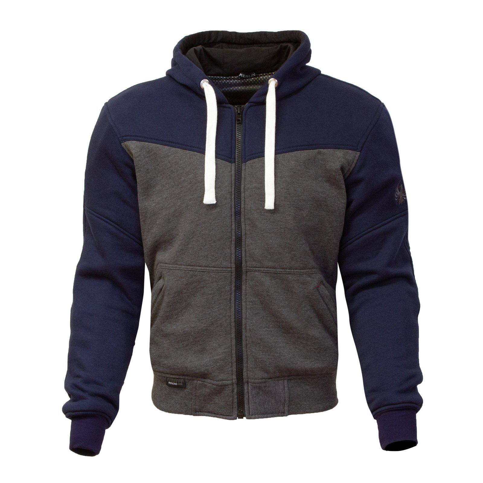 Hurley Hoody-Protective Hoody-Merlin-Navy/Grey-Small-Merlin Bike Gear