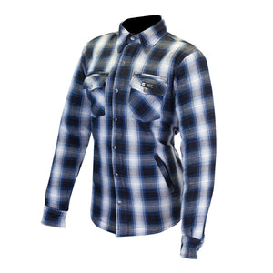 Madison Ladies Protective Shirt-Protective Shirt-Merlin-Blue/Cream-XS-Merlin Bike Gear