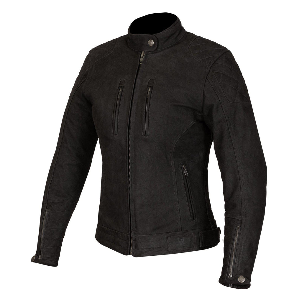 Mia Ladies Leather Jacket-leather-Merlin-Black-8-Merlin Bike Gear