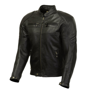 Odell Leather Jacket-leather-Merlin-Black-38-Merlin Bike Gear