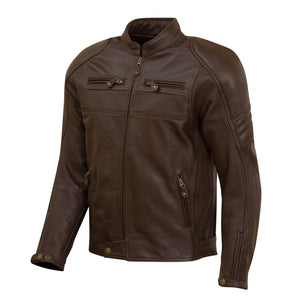 Odell Leather Jacket-leather-Merlin-Brown-38-Merlin Bike Gear