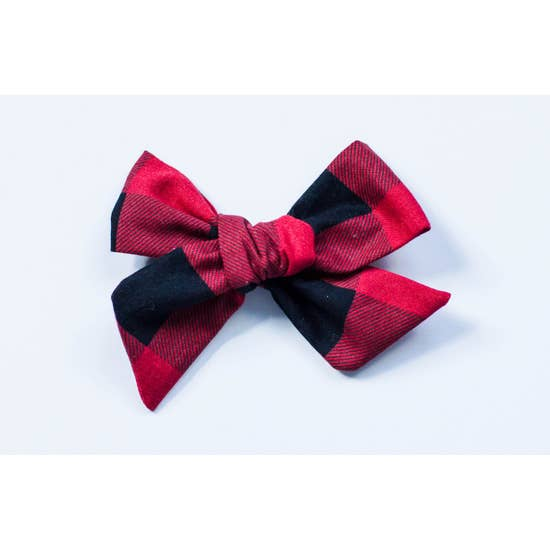 Red and Black Buffalo Plaid Bow
