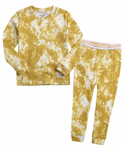 Tie Dye PJ Set- Yellow