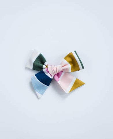 Rainbow Stripe Bow