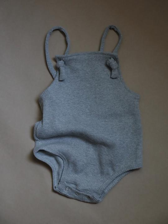 Ribbed Romper | Oyster