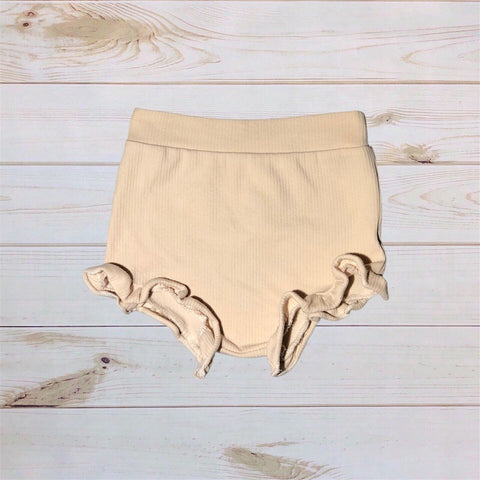 Ruffle Shorties- Cream