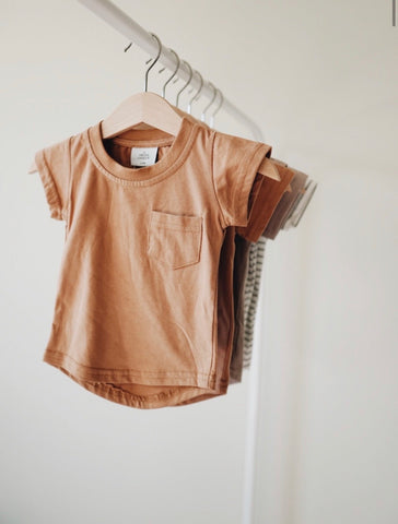 Pocket Tee- Camel