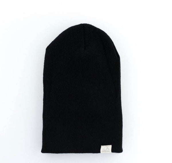 Jet Black Youth/ Adult Beanie