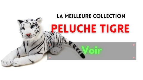 collection de peluche du tigre blanc