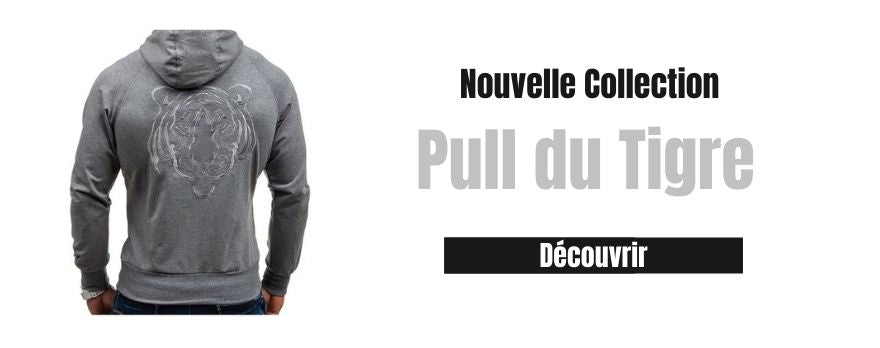 un sweat du tigre de couleur gris