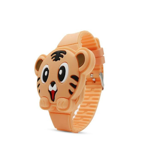 Montre Tigre Orange | L'ŒIL DU TIGRE NOIR