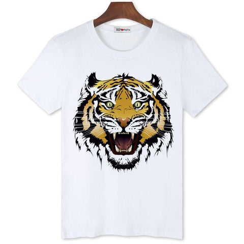 T-shirt Tigre Orange | ŒIL DU TIGRE NOIR