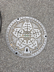 Original Cherry Blossom Sakura Manhole Cover