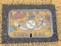 Original Flying Firefighter Water Pipe Manhole Cover
