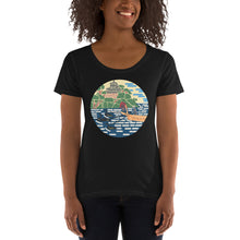 Load image into Gallery viewer, Castles & Cranes: Ladies' Scoopneck T-Shirt