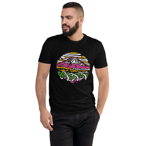 Men's Mount Fuji Colorful Short Sleeve T-shirt