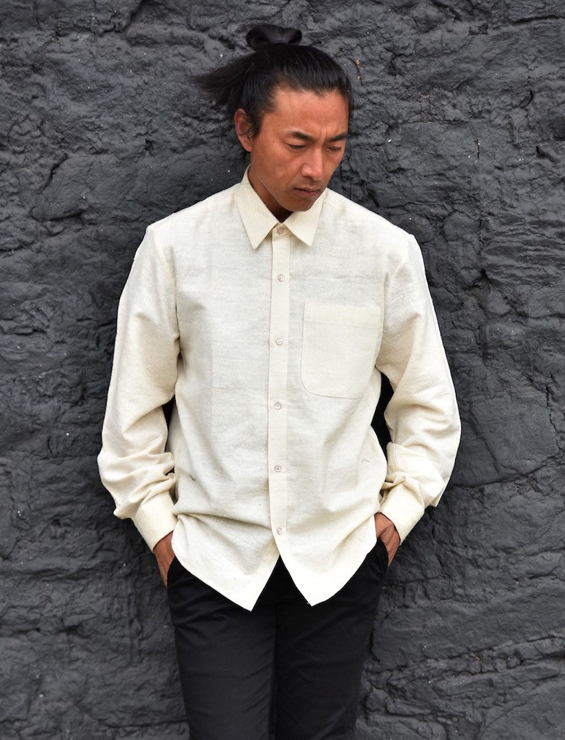 'BURAY' Raw Silk Shirt for Him