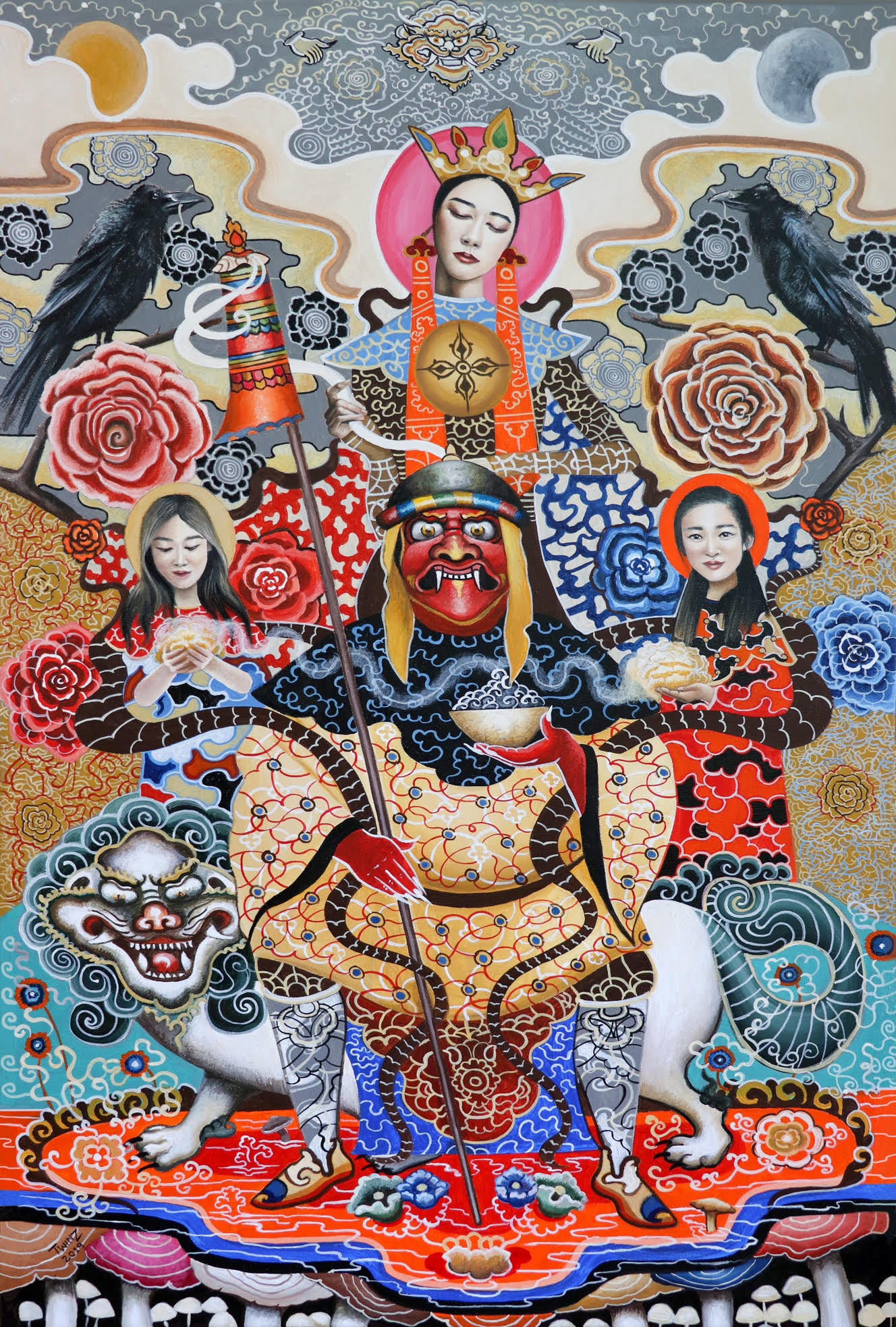 'SHAMANIC ECSTASY' - Contemporary Bhutanese Painting