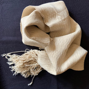 'LHAMO' Handwoven Raw Silk Scarf