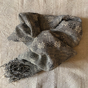 Netted 'LHAMO' Handwoven Raw Silk Scarf