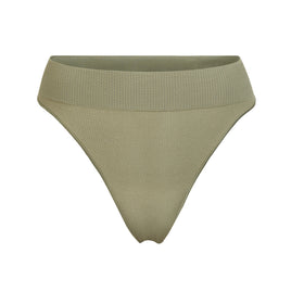 STRETCH RIB THONG | SLATE GREEN