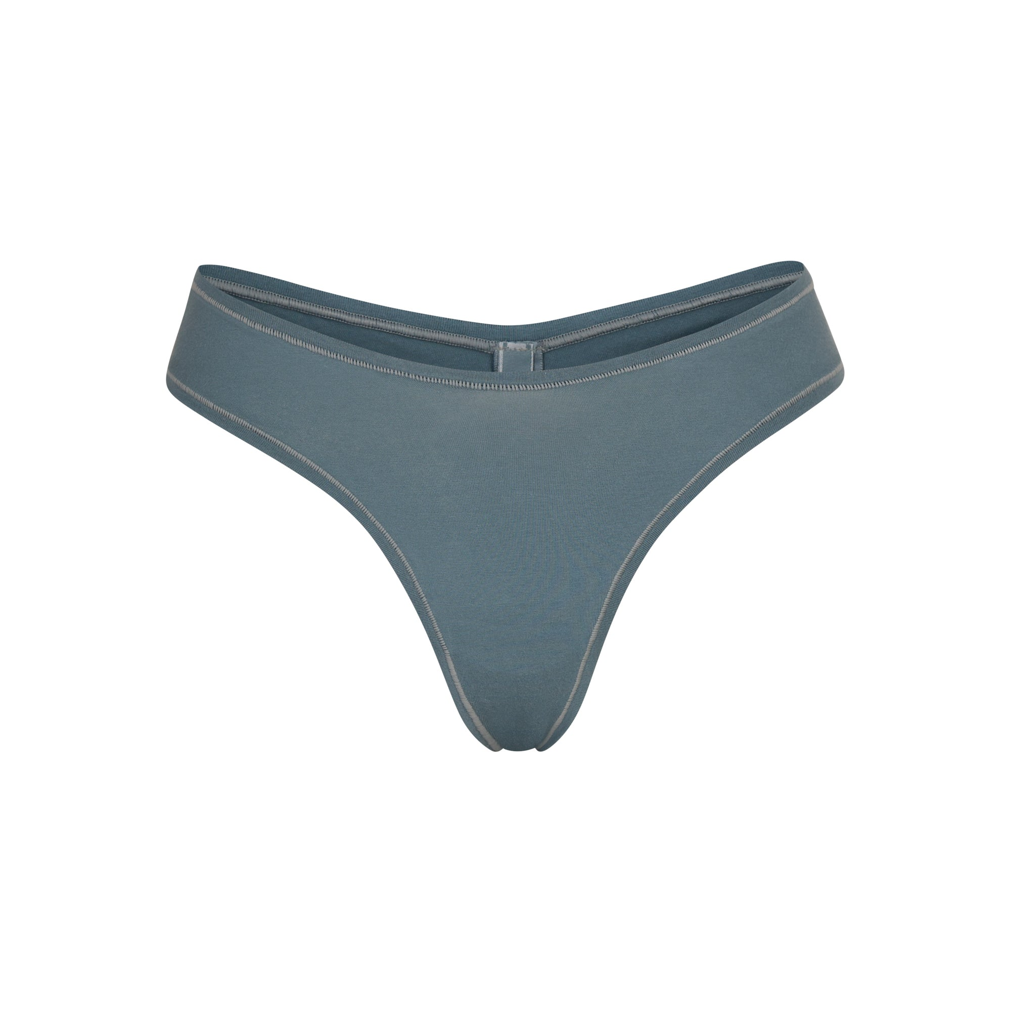 SKIMS Cotton Jersey Dipped Thong – Blue