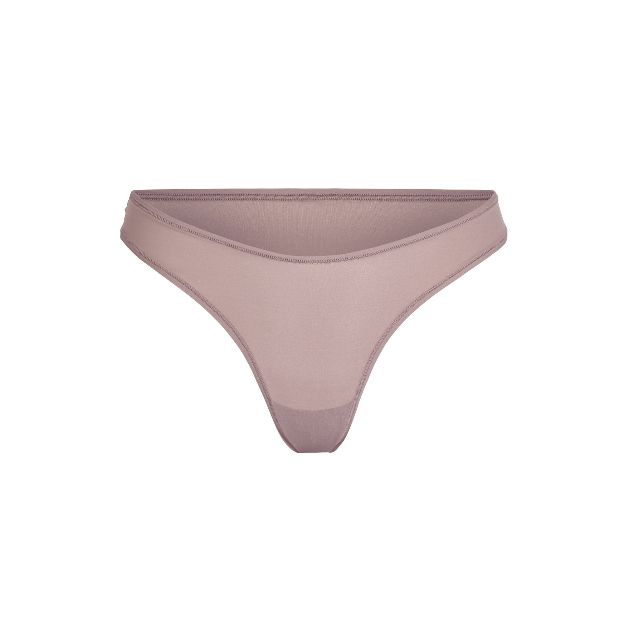 Fits Everybody Dipped Front Thong Panties – Purple