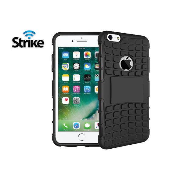 Strike Rugged Case for Apple iPhone 7 Plus and iPhone 8 Plus (Black)