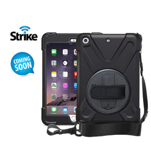 Strike Rugged Case with Hand Strap and Lanyard for Apple iPad Mini 1/2/3-image-1