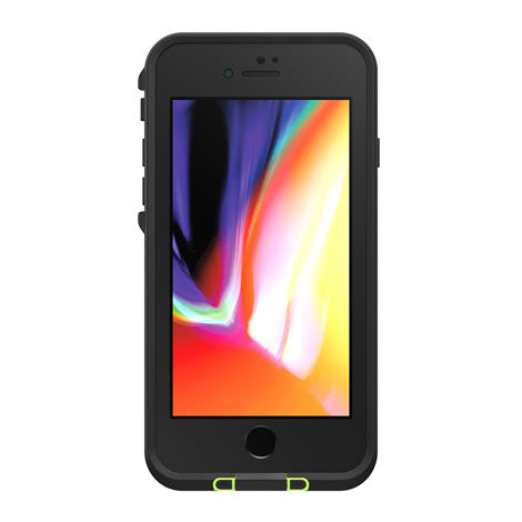 LifeProof Fre Case for Apple iPhone 7/8 (Black/Lime)-Image 1