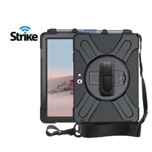Strike Rugged Case with Hand Strap and Lanyard for Microsoft Surface Go 2-image-1