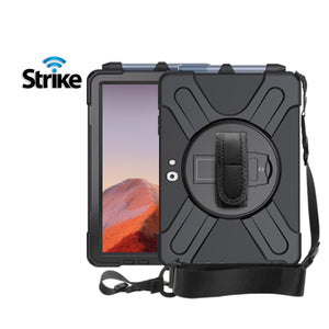 Strike Rugged Case with Hand Strap and Lanyard for Microsoft Surface Pro 7/7plus-image-1