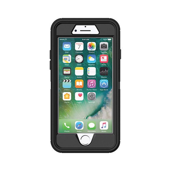 OtterBox Defender Case for Apple iPhone 8 & SE (2nd Gen) (Black)-Image-1