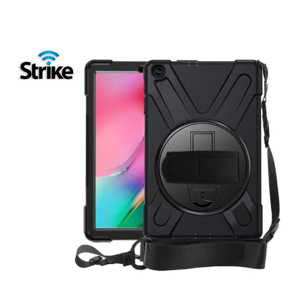 Strike Rugged Case with Hand Strap and Lanyard for Samsung Galaxy Tab A 10.1