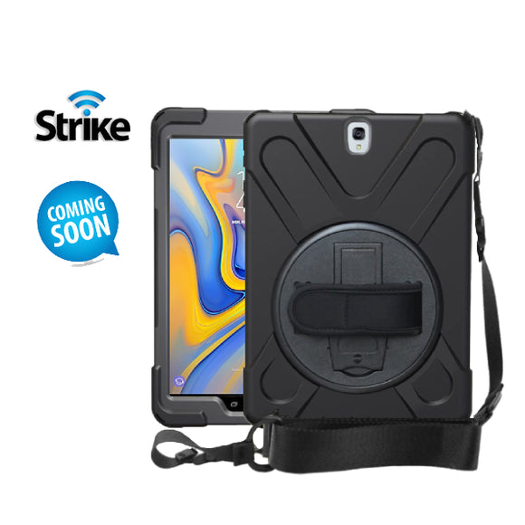 Strike Rugged Case with Hand Strap and Lanyard for Samsung Galaxy Tab A 10.5-image-1