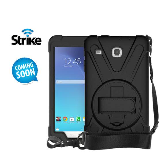 Strike Rugged Case with Hand Strap and Lanyard for Samsung Galaxy Tab E 8-image-1