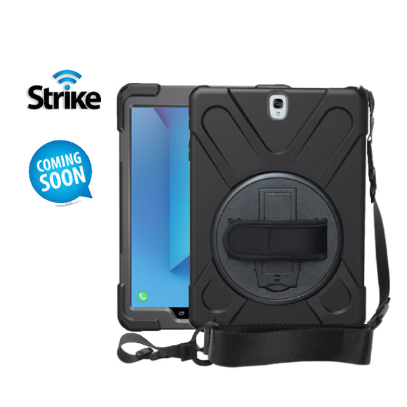 Strike Rugged Case with Hand Strap and Lanyard for Samsung Galaxy Tab S3 9.7