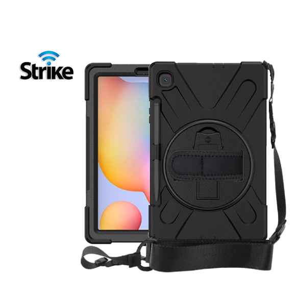Strike Rugged Case with Hand Strap and Lanyard for Samsung Galaxy Tab S6 Lite-image-1