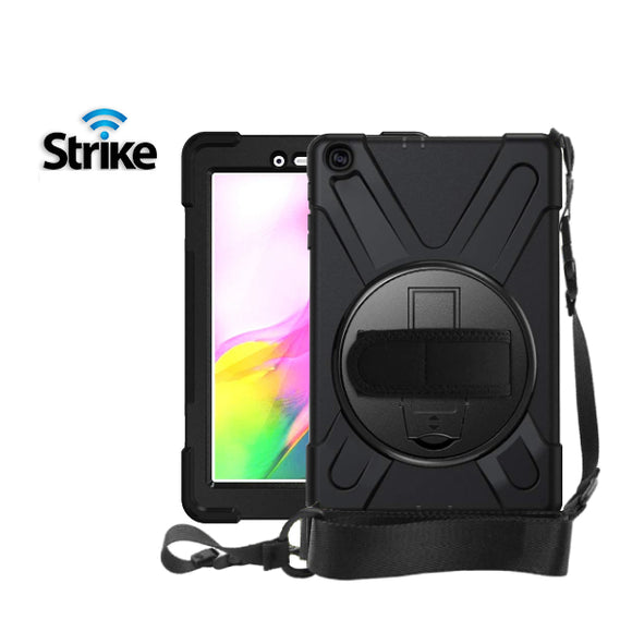Strike Rugged Case with Hand Strap and Lanyard for Samsung Galaxy Tab A 8