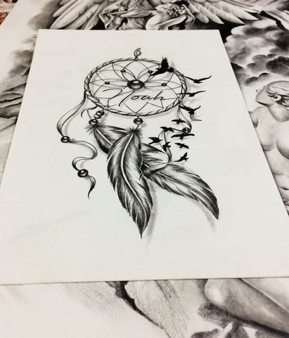 attrape reve dessin tatoo