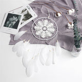 dreamcatcher blanc dentelle