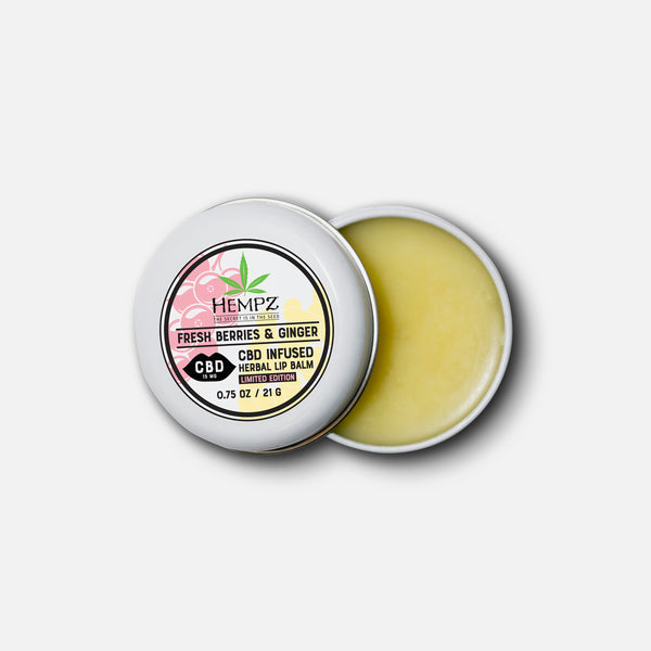 Hempz CBD Fresh Berries & Ginger Herbal Lip Balm, Inside